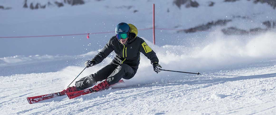 Ski-Fahren in Lenk, Schöffel-Beni Reich