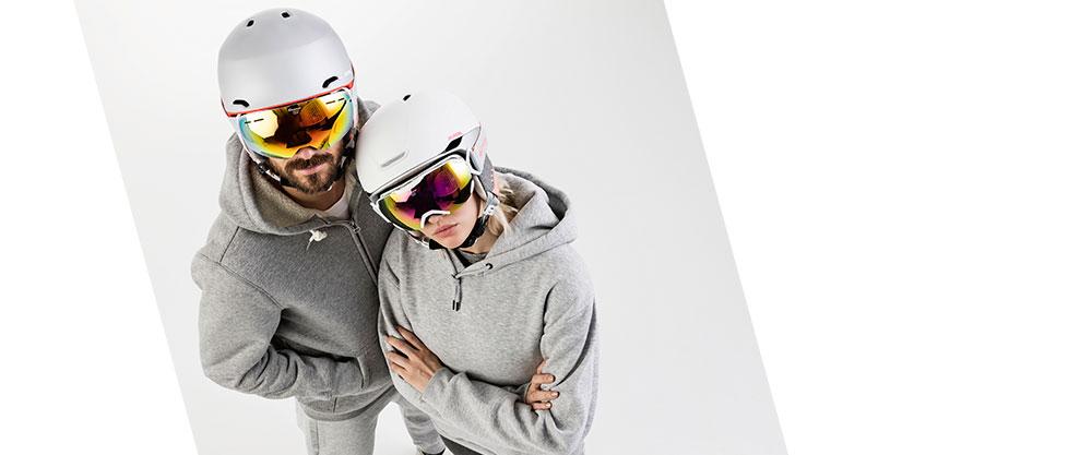 bei Strubel Sport gibts Helme und Skibrillen von von Alpina