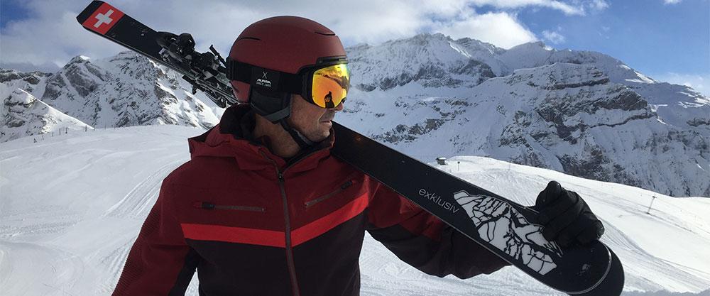 neuer Strubel Ski mit Dani