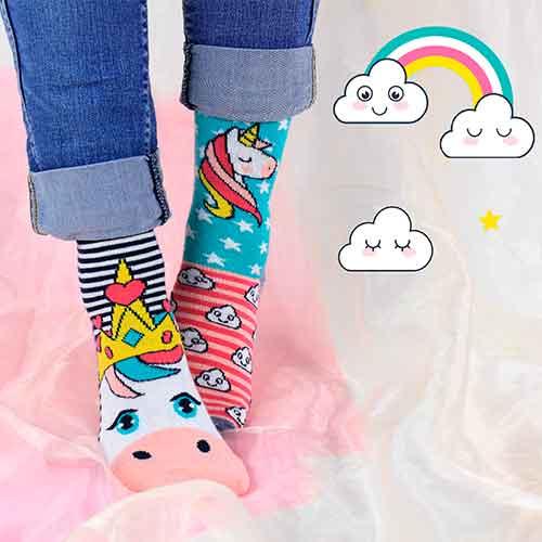 Socken für Einhorn-Fans