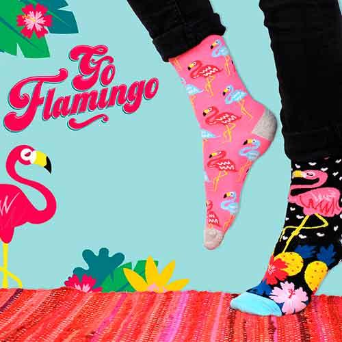 Socken zum verschenken, Flamingo Style