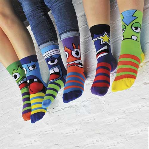 lustige Socken für Kinder
